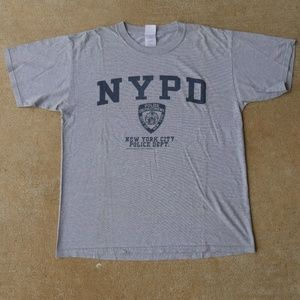 Vintage NYPD Shirt Gray Size Large Police Shirt